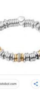 Brand new Links of London bracelet with pave diamond charm
