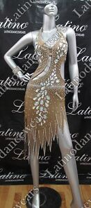 LATIN RHYTHM SALSA BALLROOM DANCE DRESS COMPETITION - SIZE S, M, L (LT756)