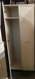 Cream double wardrobe