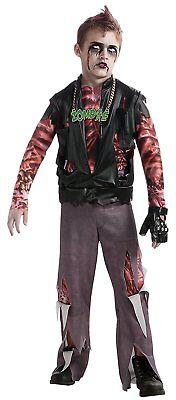 Boy's Zombie Punk Rocker #1 Costume, (Punk Rocker Zombie Kostüme)
