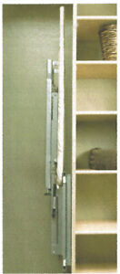 Retractable swivelling ironing board concealed into cabinet