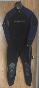 Scubapro 6.5mm semi-dry wetsuit + hood – scuba - spear fishing