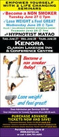 Hypnotist MATAO live in Kenora ONT on June 27, 28, 29!