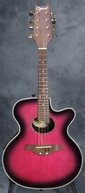 Ozark 2252Pl Plum Electric Cutaway Mandolin, Acoustic Guitar Style £150 ono