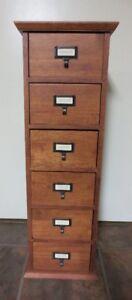 Vertical Wood Storage Cabinet