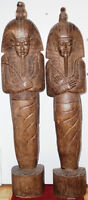 PRICE REDUCED - Tall Antique Pharaoh Wood Carving Bali 1925-1929