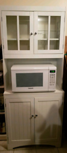 MINT CONDITION White Kitchen Hutch