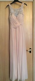 Little Mistress dress Size 12, little mistress dress London, pink dress, wedding clothes, maxi dress