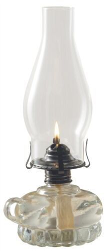"""NEW LAMPLIGHT #110 CHAMBER 12"""" CLEAR PEWTER OIL LAMP NEW IN BOX SALE 6711329"""