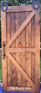 Rustic Custom Handcrafted Sliding Barn Door Softclose Bypass