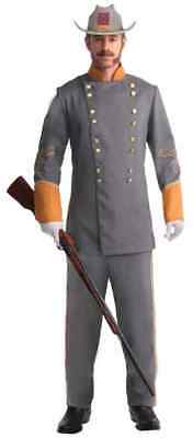 Confederate Officer Civil War Military Soldier Fancy Dress Up Halloween Costume (Confederate Halloween Costume)