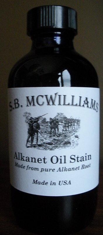 SB McWilliams ALKANET ROOT Stain/Finish Gunstock Woodworking Refinishing Vintage