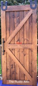 Custom Handcrafted Sliding Barn Doors Bypass Soft Close Rustic