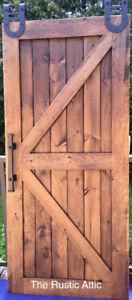 Barn Board or Rustic Pine Sliding Barn Door & Soft Close Bypass