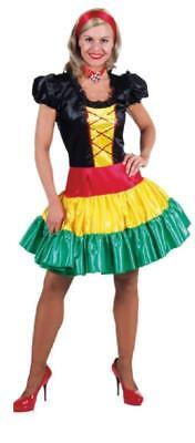 Flamenco Kostüm Kleid Damen Salsa Rio Spanierin Ungarin Zigeunerin Sambakleid