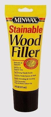 Minwax Stainable Wood (Minwax STAINABLE WOOD FILLER Paintable In/Outdoor Repairs Cracks Holes 6oz)