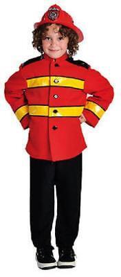Feuerwehrmann Feuerwehr Anzug Kinder Kostüm Uniform Helm Feuerwehrhelm - Feuerwehr Mann Kostüm