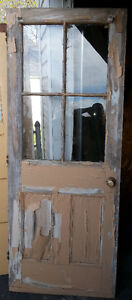 100 yr old Antique solid wood country farm door
