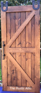 Rustic Pine Handcrafted Sliding Barn Doors Soft Close