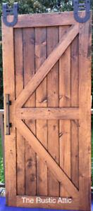 Handcrafted Sliding Barn Door Barn Board/Pine Bypass Softclose