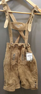 Size 134 New With Tags Lederhosen Leather NWT