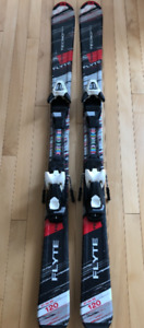 Kids Skis - 120s TechnoPro Flyte Skis - EUC