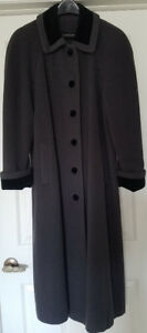 Maternity black and grey wool winter coat Size 10