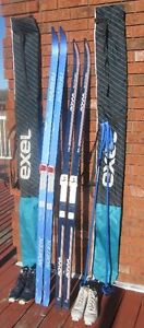 TWO CROSS COUNTRY SKI SETS EXCELLENT CONDITION