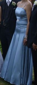 Beautiful slate blue gown size 10/12 (+ jacket &  wrap)