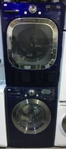 LG Blue & Red front load washer and dryer set PRICE $1299