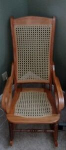 Beautiful Caned Rocking Chairs for Sale