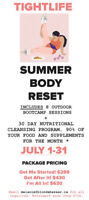 SUMMER BODY RESET! 8 BOOTCAMPS + 30 DAY NUTRITION SYSTEM