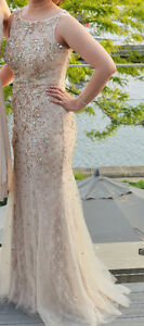 Beautiful gold nude evening prom dress London Ontario image 1