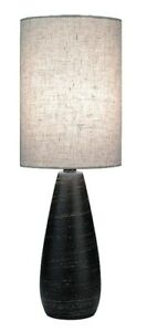 Quatro Ceramic Mini Table Lamp with Linen Shade