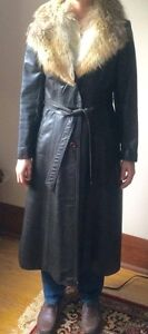 vintage leather coat