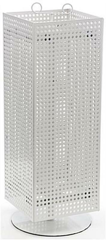 For Sale  Counter Magnet and Peg Hook Spinner Display Rack (White)
