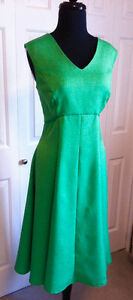 Christmas Green Dress with Lace Detail on Back