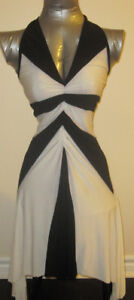 White and Black Dress Size S