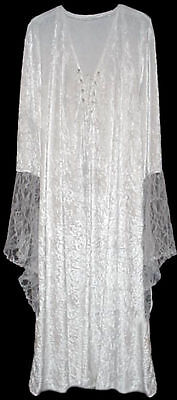 Sexy White Velvet Lace-up Dress Angel Fairy Like Costume PLUS SIZE S to 9x SHORT