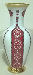 Meito Japan Design by FIRCHUK - Vase Hand Painted 18K Gold Trim