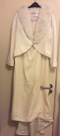 Jacques Vert wedding dress cream velvet