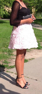 Pink and black party dress size 7