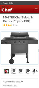 Master Chef Select 3 Burner BBQ, with cover