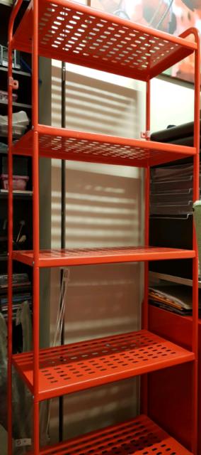 Pleasing Ikea Mulig Red Metal Shelf Bookcases Shelves Gumtree Interior Design Ideas Clesiryabchikinfo
