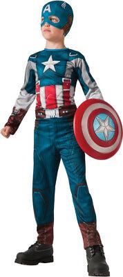 Jungen Kind Marvel The Winter Soldaten Deluxe Retro Captain America Kostüm