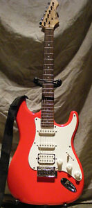 Electric Guitar with Stand, Carrying Bag, Strap, & Cord