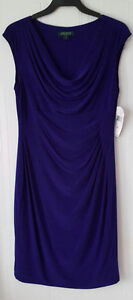 LAUREN Ralph Lauren royal blue dress (size 14)