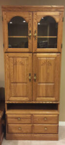 2 Wooden Storage Cabinets for Sale