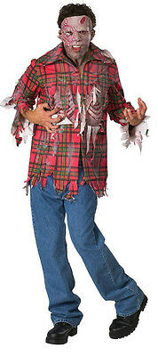 Plaid Boy Zombie Dawn of the Dead Movie Fancy Dress Up Halloween Adult Costume - Dawn Of The Dead Halloween Costume