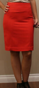Coral-Red Pencil Skirt from H&M